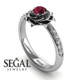 Rose Simple Engagement Ring - Elena no. 6