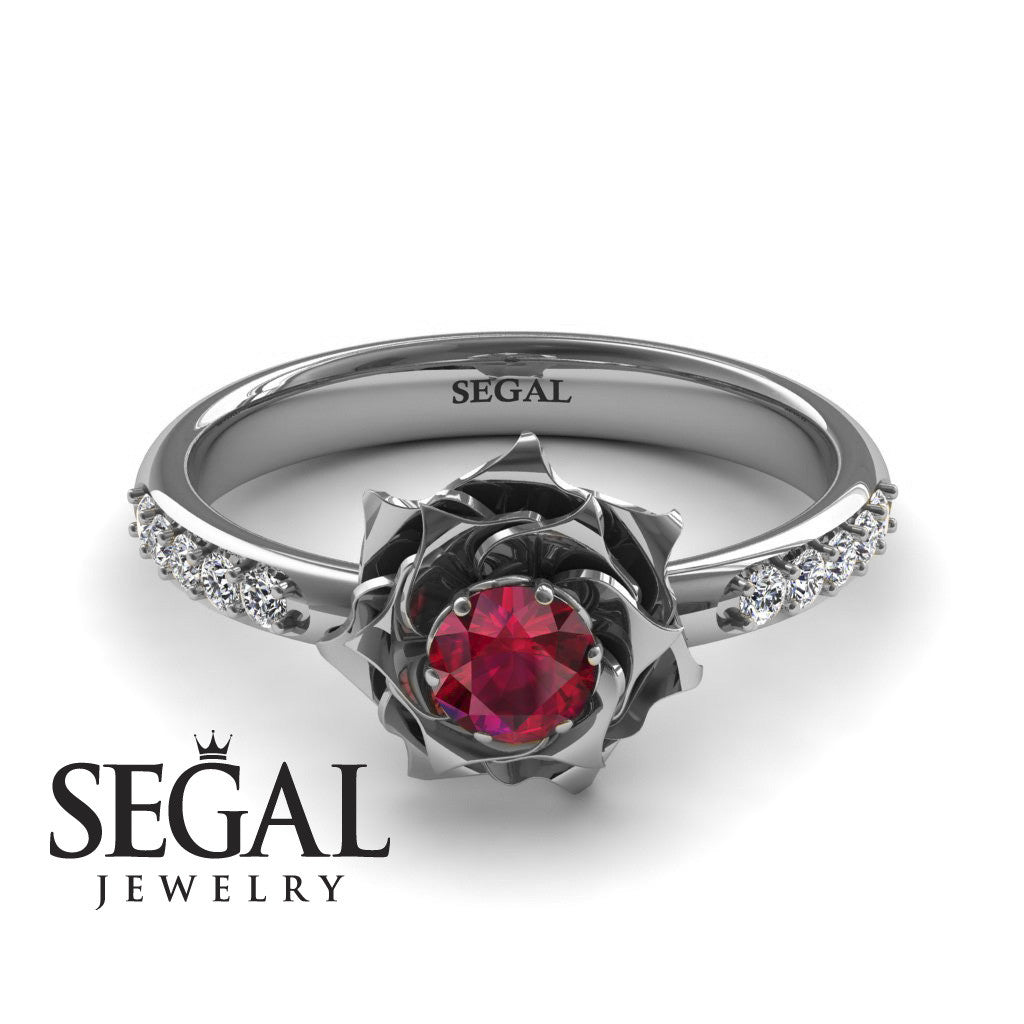 A lady's Rose Ruby Ring- Elena no. 6