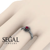 Delicate Rose Engagement Ring - Elena no. 6