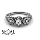 Flower Alternative Engagement Ring - Kennedy no. 3