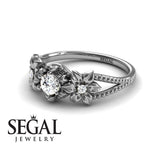 Flower Custom Engagement Ring - Kennedy no. 3