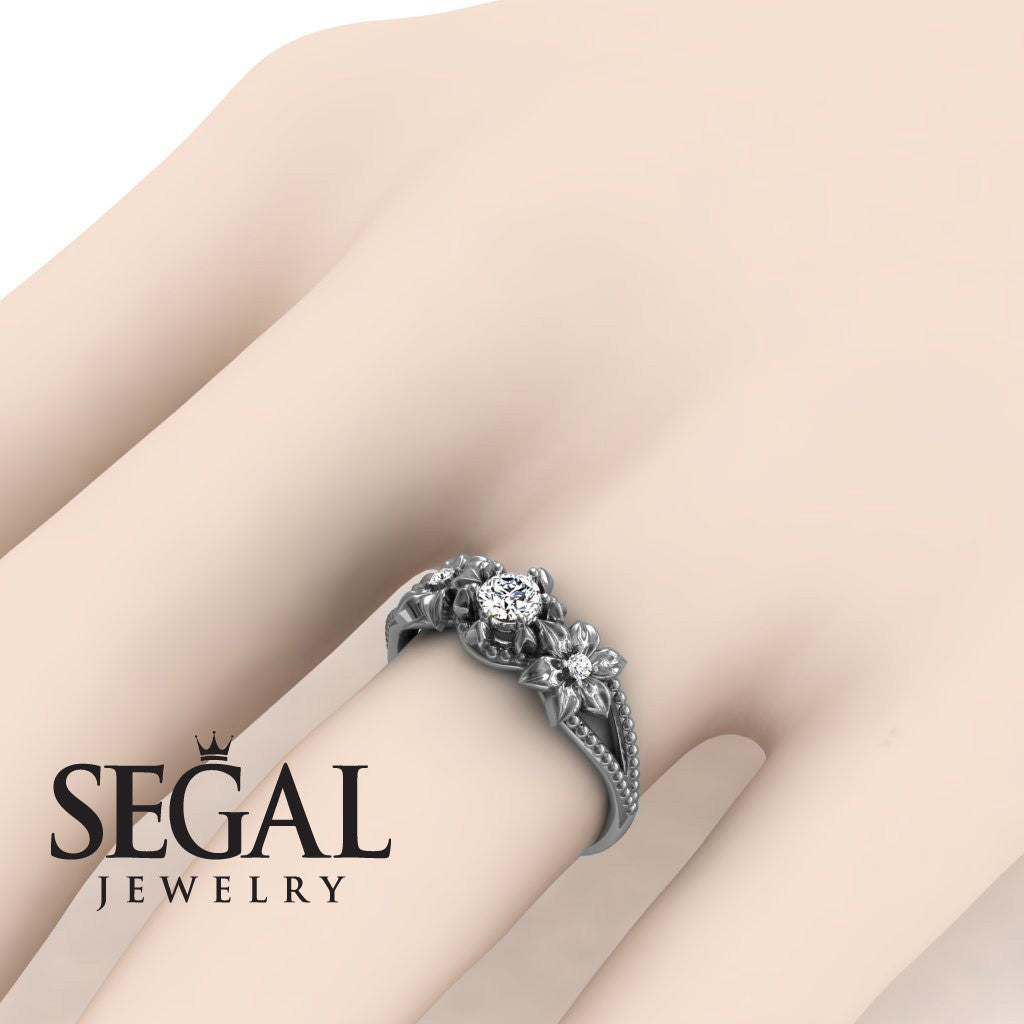 Affordable Flower Engagement Ring - Kennedy no. 3