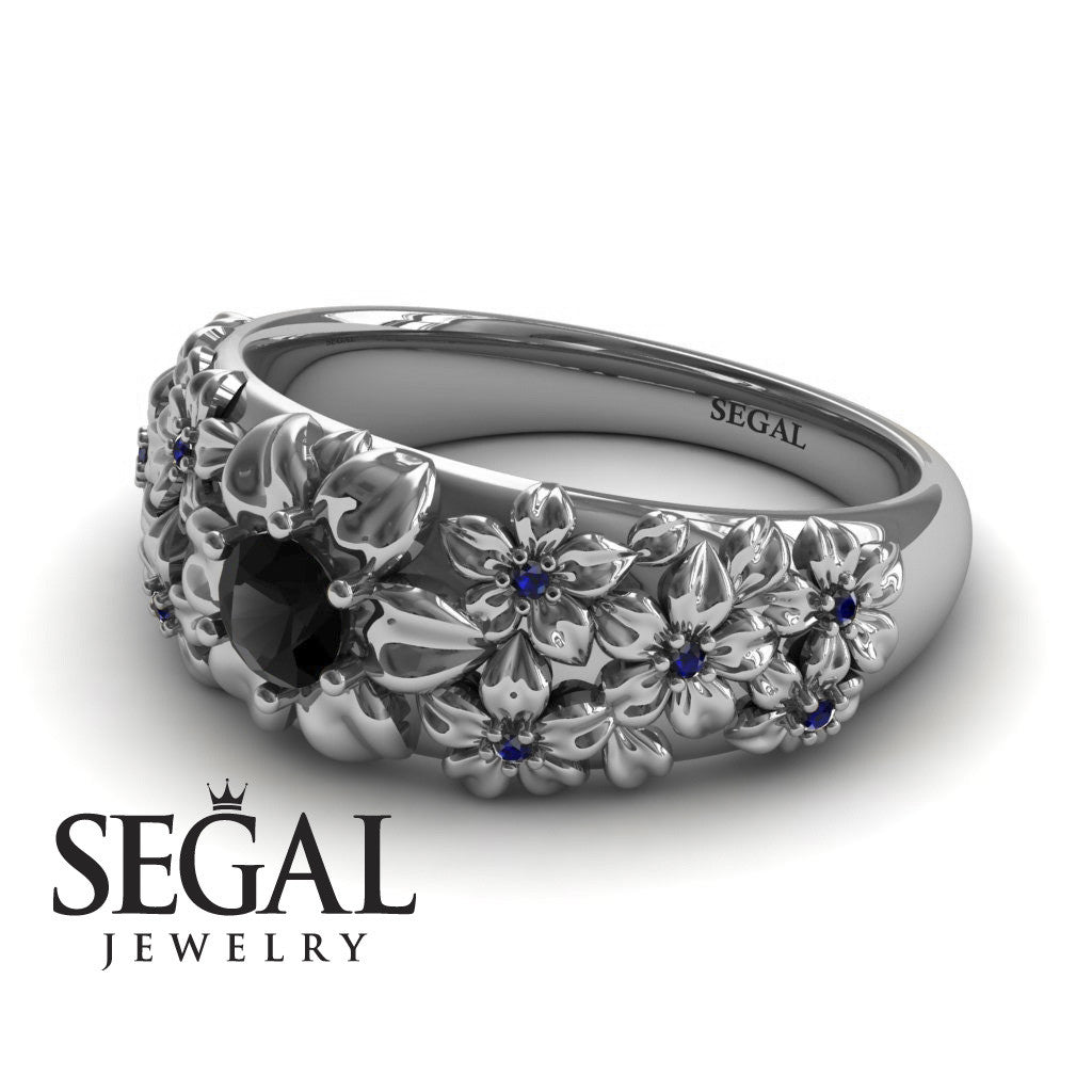 The Ring Of Flowers Black Diamond Ring- Violet no. 12