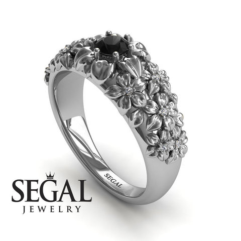 The Ring Of Flowers Black Diamond Ring- Violet noº 9