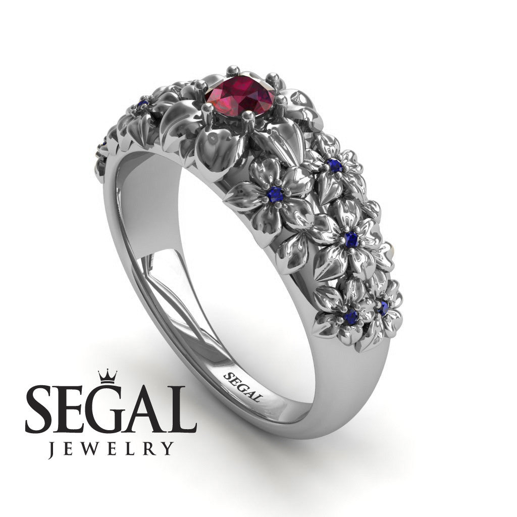 The Ring Of Flowers Ruby Ring- Violet no. 15