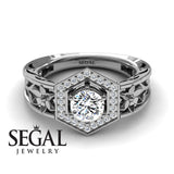 Thomas - The Hexagon Flower Diamond Ring- Paisley no. 3