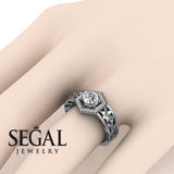 The Hexagon Flower Diamond Ring- Paisley no. 3