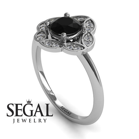 A Princess Ring Black Diamond Ring- Lucy no. 6