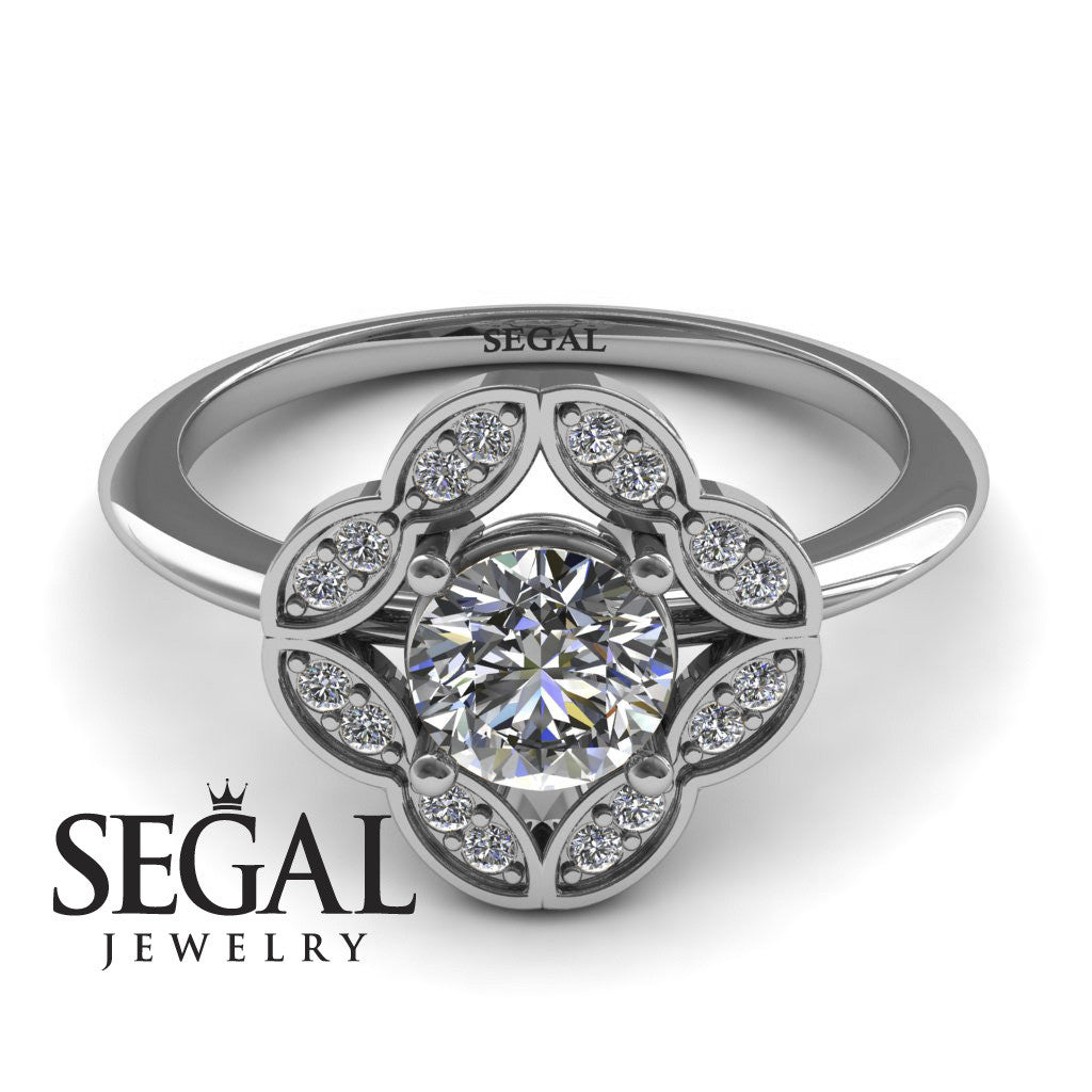 2593808a7c756 1930s Engagement Ring - 14K White Gold 0.84 Carat Round Cut Diamond ...