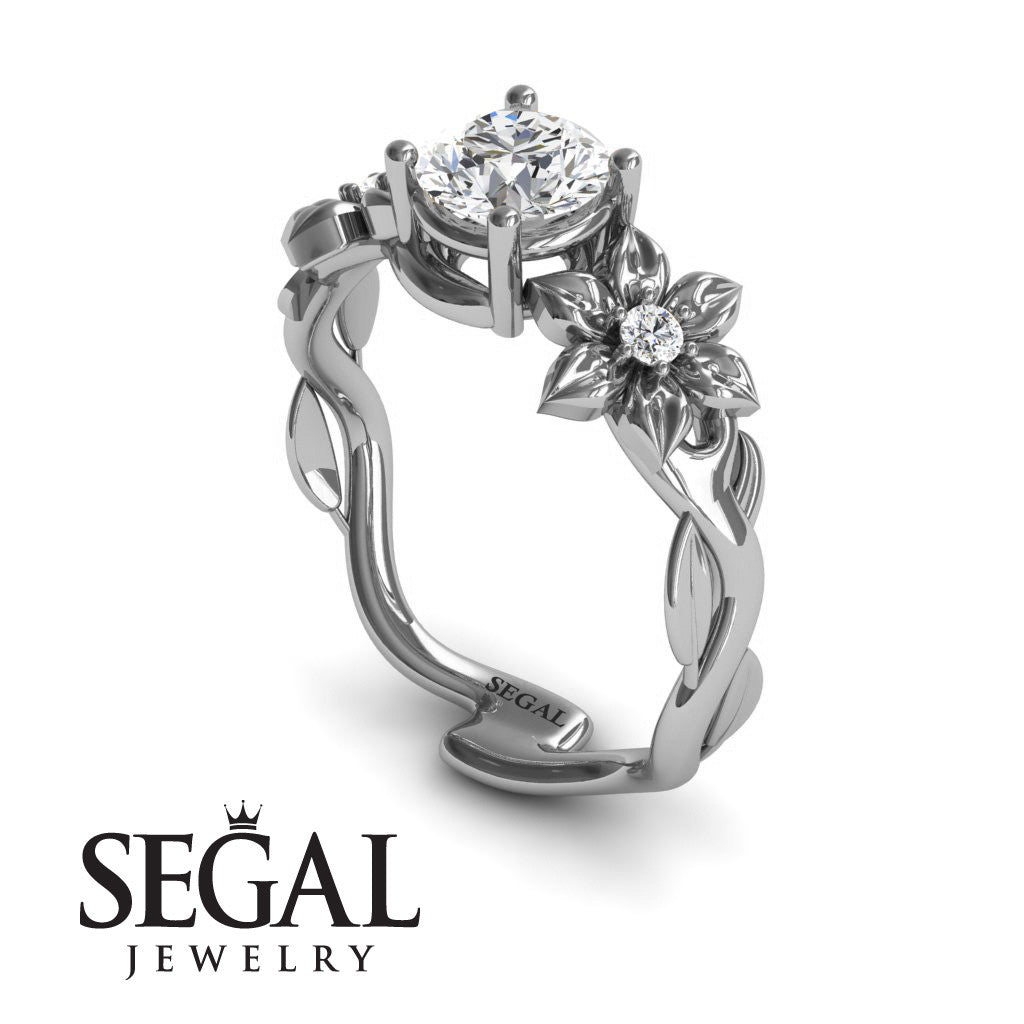 Floral Nature Inspired Engagement Ring - Julia no. 3