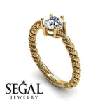The Braid Ring Diamond Ring- Keira no. 1