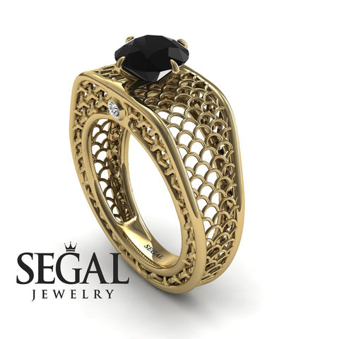 The Arch Ring Black Diamond Ring- Zoe no. 4