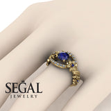 Spring Full With Flowers Sapphire Ring - Layla no. 7