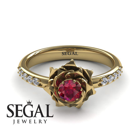 Unique Rose Engagement Ring - Elena no. 4