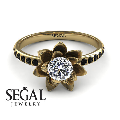 Lotus Flower Lotus Engagement Ring - Lotus no. 10
