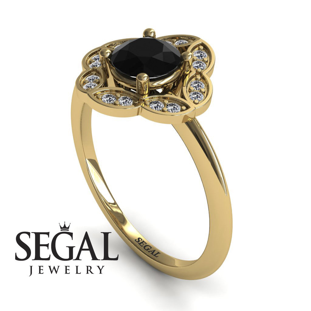 A Princess Ring Black Diamond Ring- Lucy no. 4
