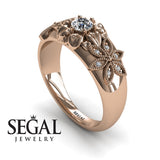 Middle Flower Spring Diamond Ring- Emma no. 2
