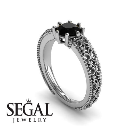 The Edwardian Arches Black Diamond Ring- Beatrice no. 15