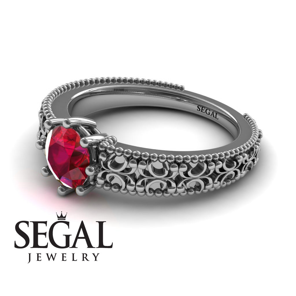 The Edwardian Arches Ruby Ring- Beatrice no. 6
