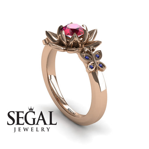 The Lotus Cocktail ring Ruby Ring- Kaitlyn no. 5
