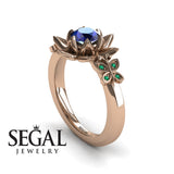 The Lotus Cocktail ring Blue Sapphire ring- Kaitlyn no. 11