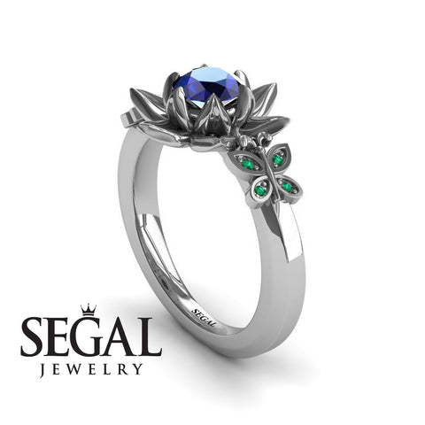 The Lotus Cocktail ring Blue Sapphire ring- Kaitlyn noº 12
