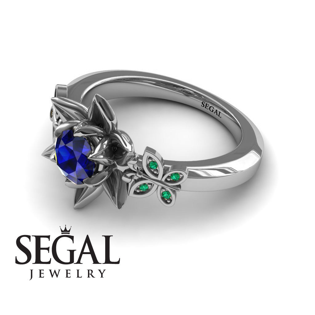 baguette sri spectacular this ring green of ocean gallery an most a accents filigree sapphire ceylon and heat platinum sapphires pierced lanka engagement but blue from rings features no for importantly fit