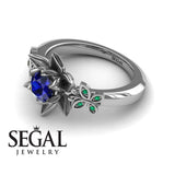The Lotus Cocktail ring Blue Sapphire ring- Kaitlyn no. 12