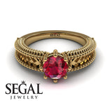The Mounted Fir Ruby Ring- Harper no. 4