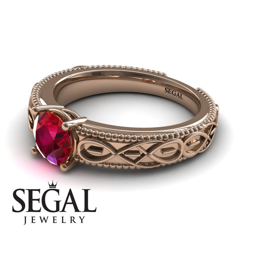 The Waves Of Nature Ruby Ring- Liliana no. 5