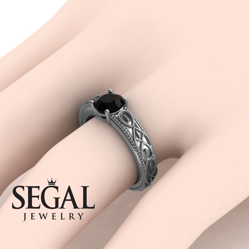 The Waves Of Nature Black Diamond Ring- Liliana no. 15