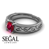 The Waves Of Nature Ruby Ring- Liliana no. 6