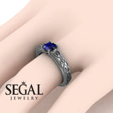 The Waves Of Nature Blue Sapphire Ring- Liliana no. 9