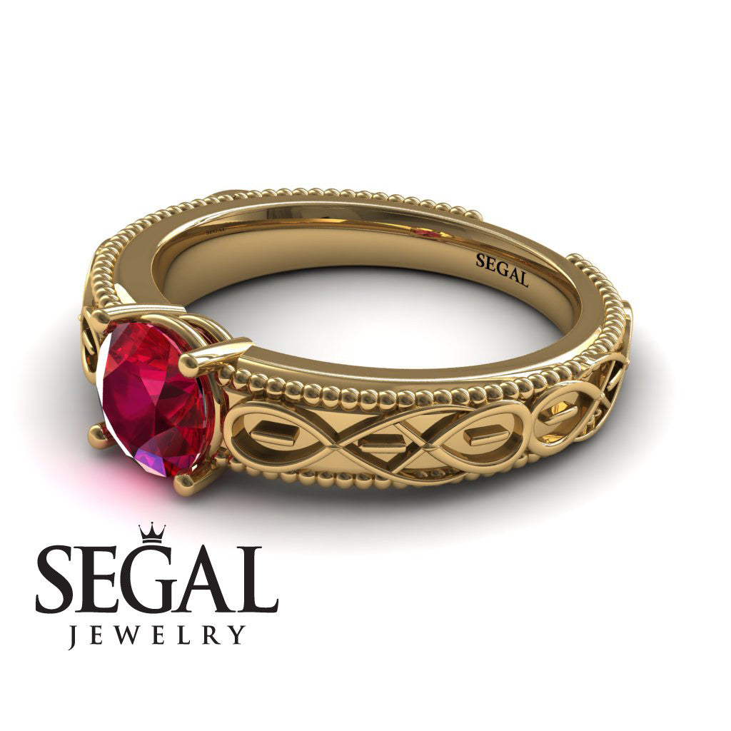 The Waves Of Nature Ruby Ring- Liliana no. 4