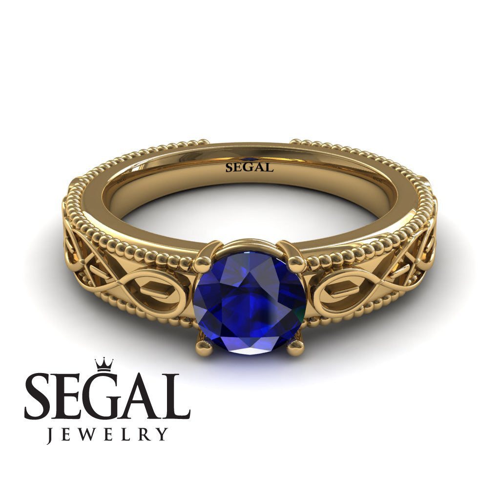 The Waves Of Nature Blue Sapphire Ring- Liliana no. 7