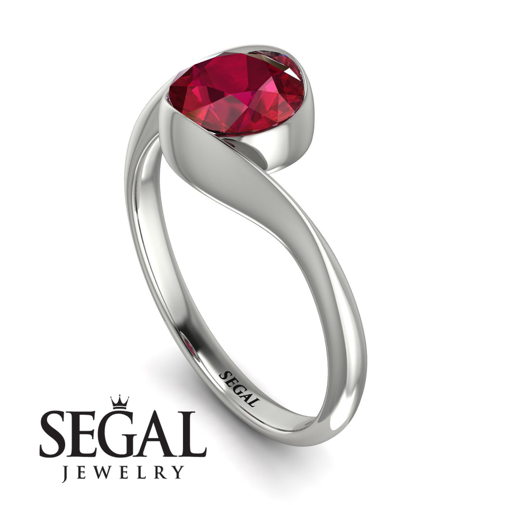 Vintage Bezel Twist Ruby Ring - Everly No. 12