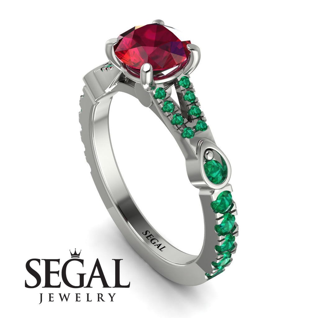 Vintage Ruby Engaement Ring - Arya No. 27