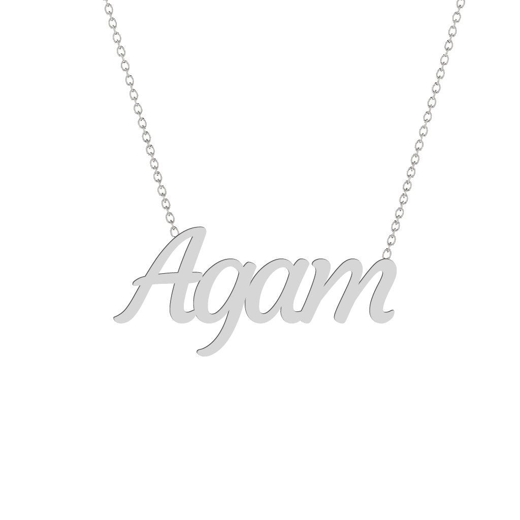 Gold Name Necklace - Agam