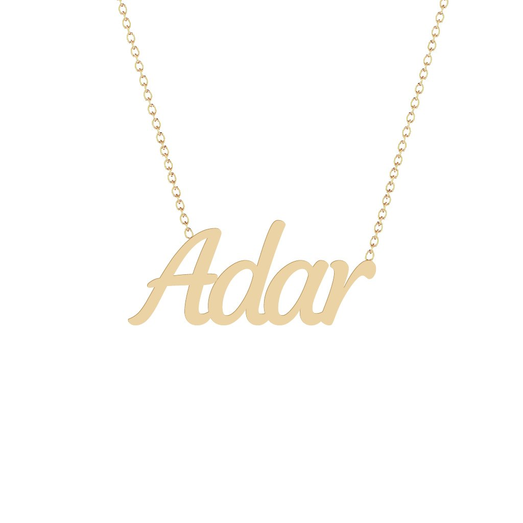 Gold Name Necklace - Adar