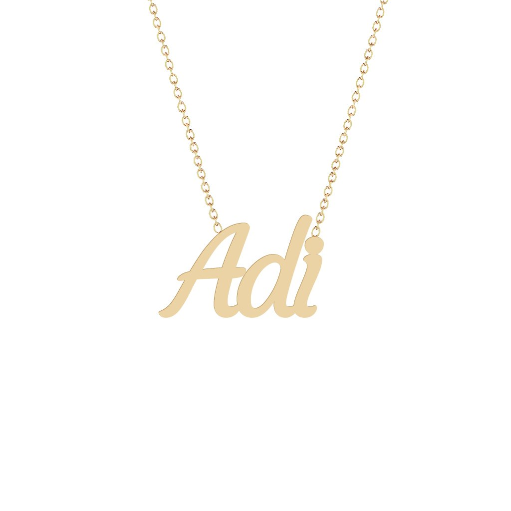 Gold Name Necklace - Adi