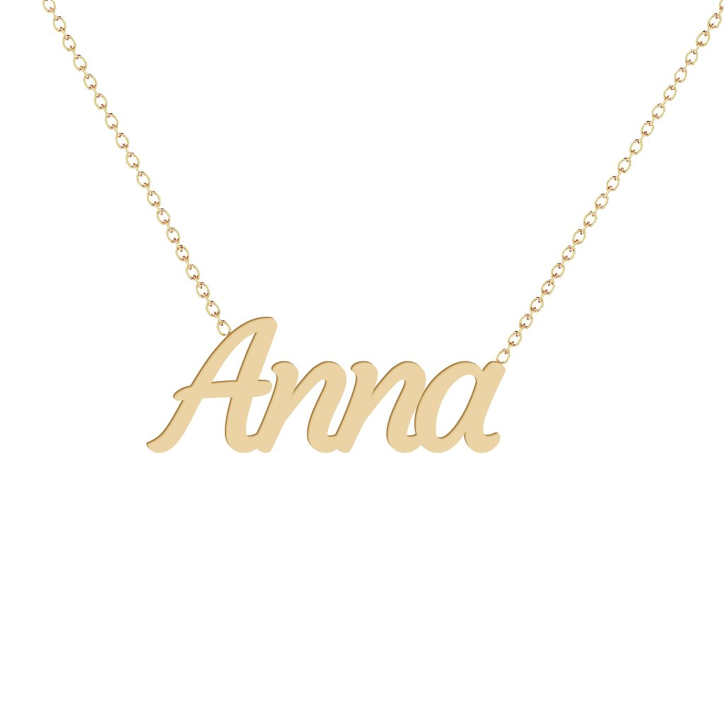 Gold Name Necklace - Anna