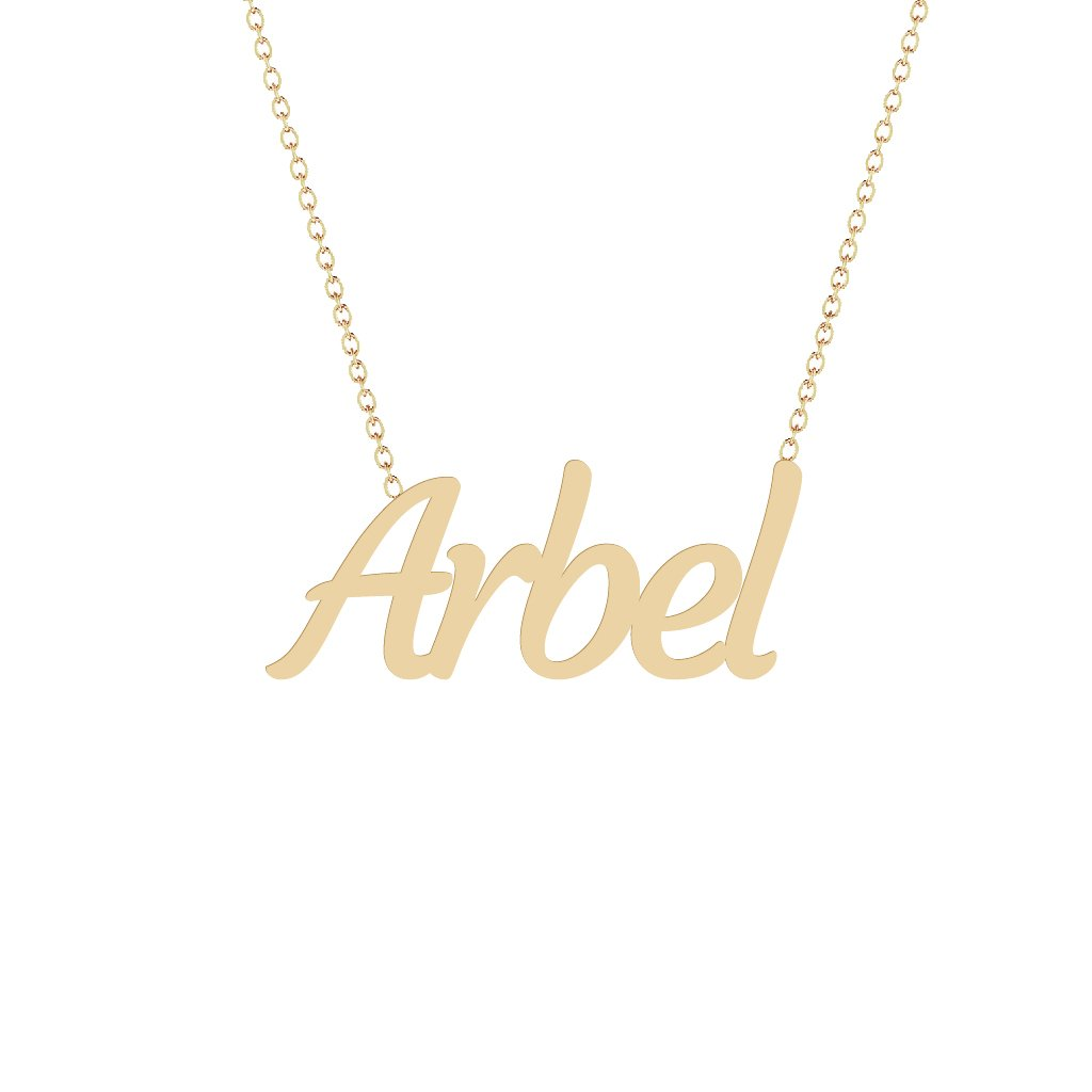 Gold Name Necklace - Arbel
