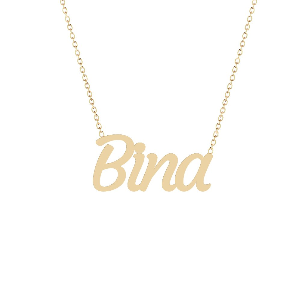 Gold Name Necklace - Bina