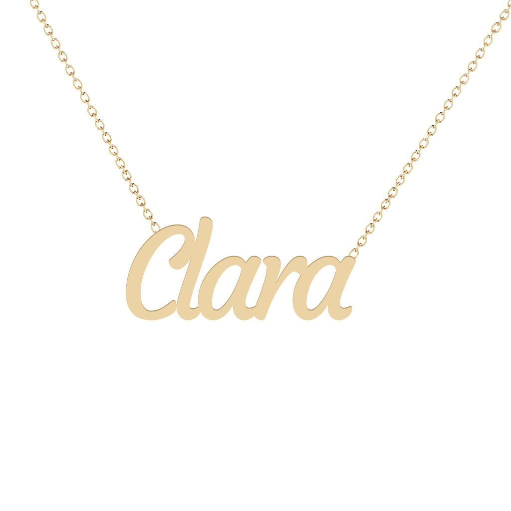 Gold Name Necklace - Clara