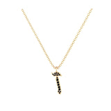 Zain - Hebrew Alef-Bet letter diamond Necklace - Z letter