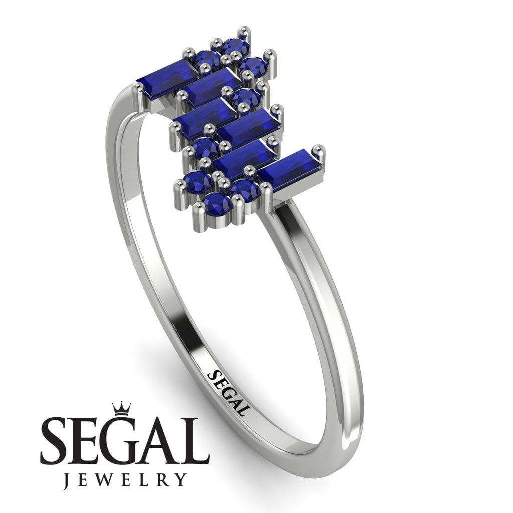 Baguette And Round Sapphire Band - Daniela No. 75