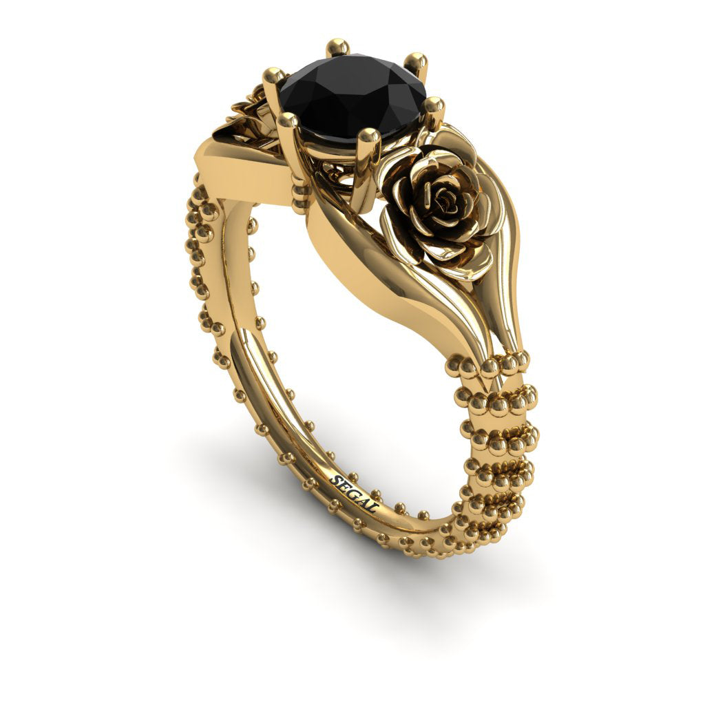 The Unique Rose Spike Black Diamond Ring- Camilla no. 4