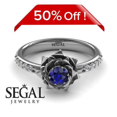 SALE - A lady's Rose Blue Sapphire Ring- Elena