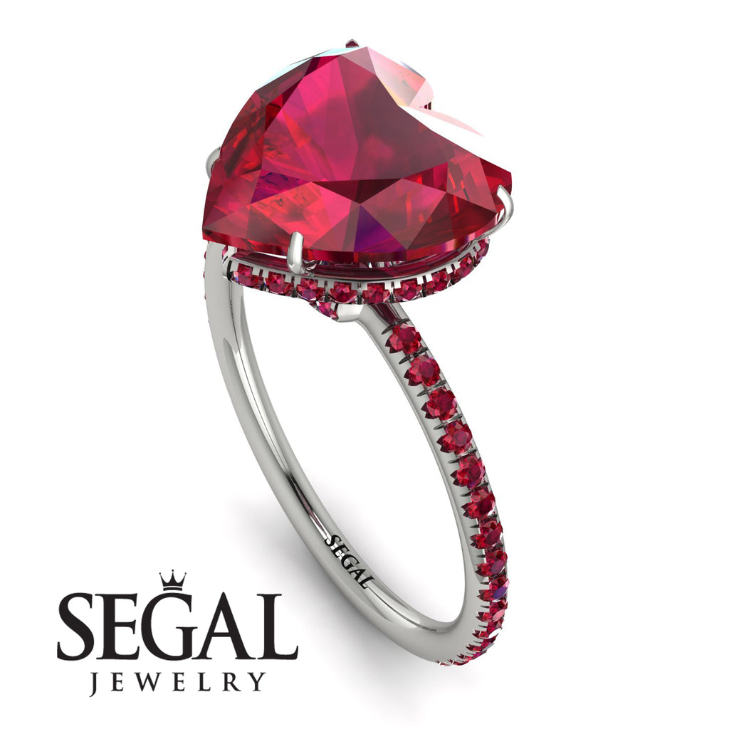 Heart Shape Ruby Ring - Noelle No. 57