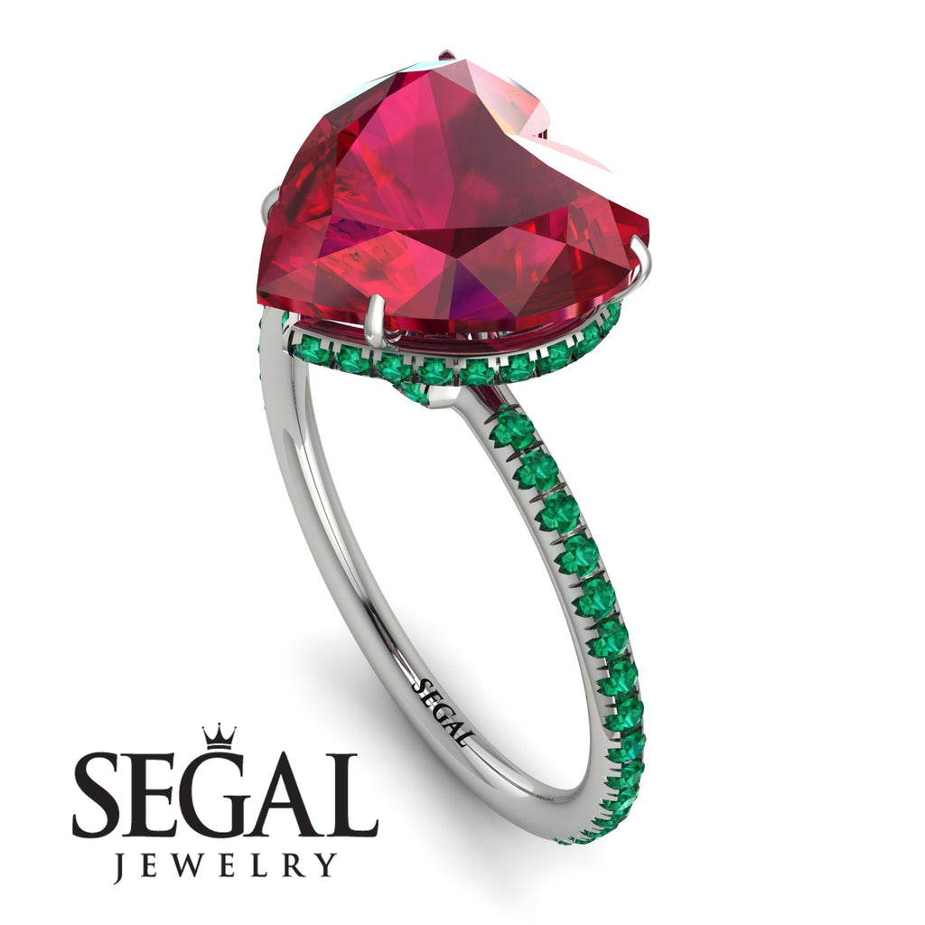 Heart Shape Ruby Ring - Noelle No. 27